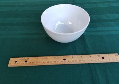 White Rim Soup Bowl