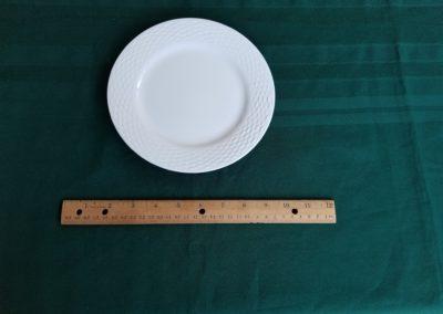 White Rim Bread Plate