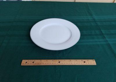 White Rim Dinner Plate