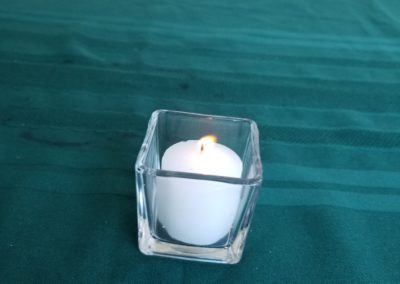 Votive Candle with Glass Vase