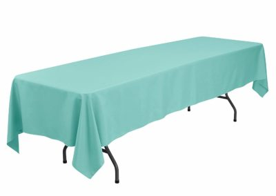 Turquoise Banquet Tablecloth (60 x 126 inch)