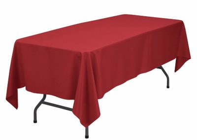 Red Banquet Tablecloth (60 x 120 inch)