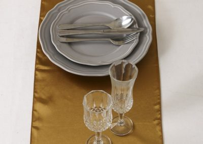 Satin Table Runner Old Gold (12 x 108 inches)